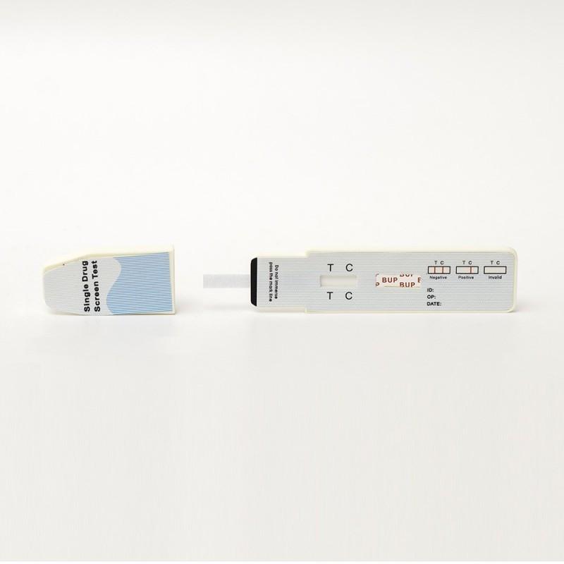 """Snabbtest för urin (buprenorfin). Drogtestet upptäcker """"norbuprenorfin"""" och har en cutoff på 10ng/ml."""